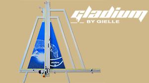 Multifunkční vertikální velkoformátové řezačky Gielle GLADIUM